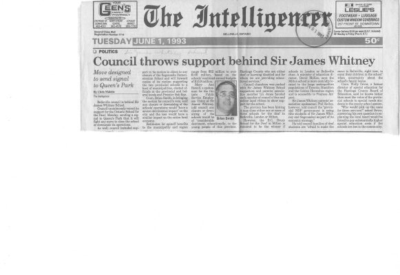 Council throws support behind Sir James Whitney