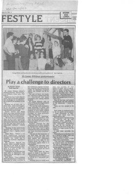 Play challenge to directors