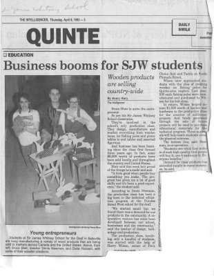 Business booms for SJW students