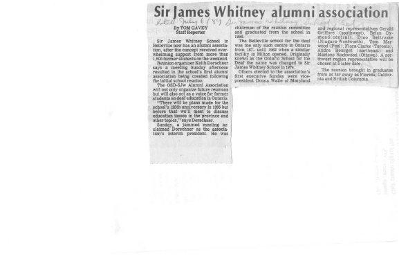 Sir James Whitney alumni association