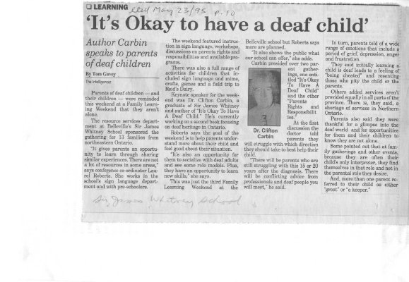 It's Okay to have a deaf child