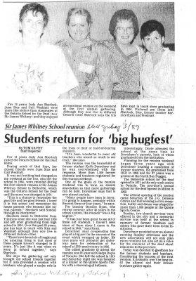 Students return for big hugfest