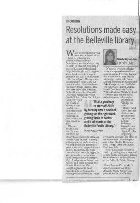 Resolutions made easy at the Belleville library