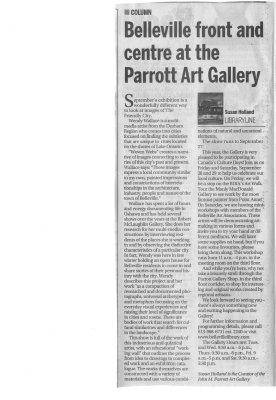 Belleville front and centre at the Parrott Art Gallery