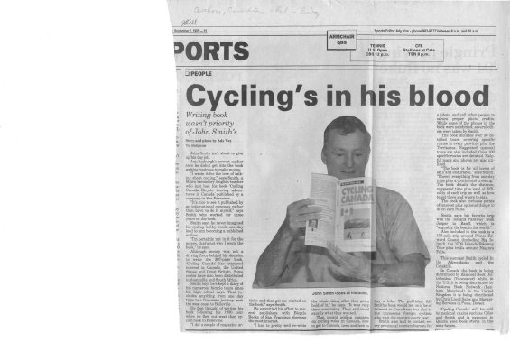 Cycling's in his Blood