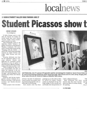 Student Picassos show their work