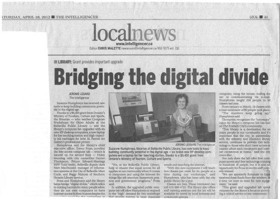 Bridging the digital divide