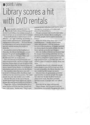 Library scores a hit with DVD rentals