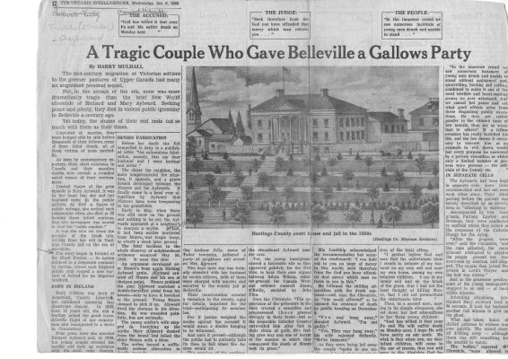A Tragic Couple Who Gave Belleville A Gallows Party