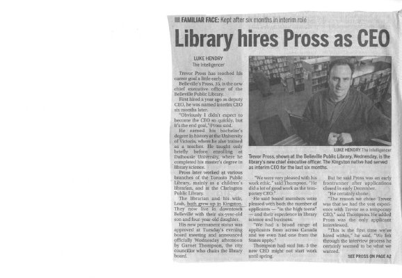 Library hires Pross as CEO