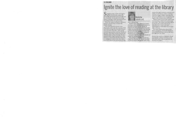Ignite the love of reading at the library