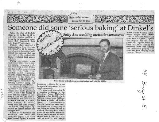"Someone did some ""serious baking"" at Dinkel's"
