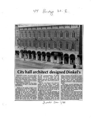City hall architect designed Dinkel's