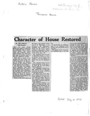 Character of House Restored