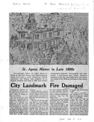 City Landmark Fire Damaged