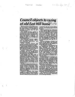 Council objects to razing of old East Hill home