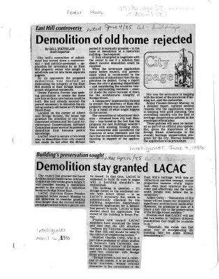 Demolition of old home rejected