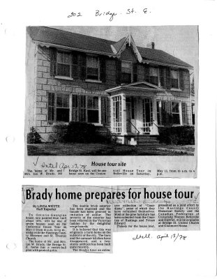 Home tour site: Brady home prepares for house tour