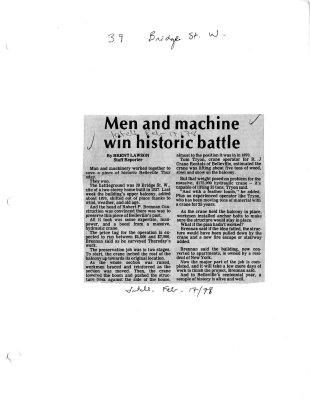 Men and machine win historic battle