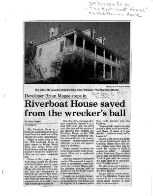 Developer Brian Magee steps in: Riverboat House saved from the wrecker's ball