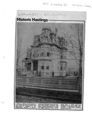 Historic hastings: 223 Charles st.  C.P. Holton House