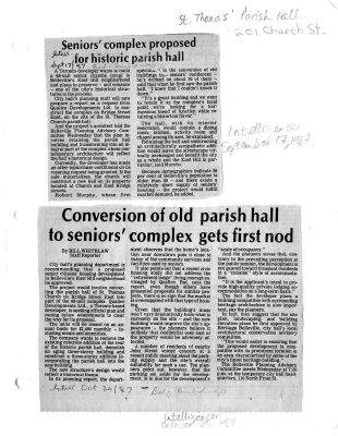St. Thomas Parish Hall : 201 Church st.