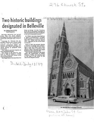 Two historic buildings designated in Belleville