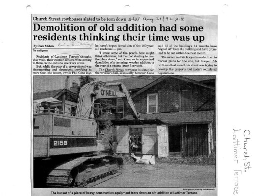 Demolition of old addition had some residents thinking their time was up