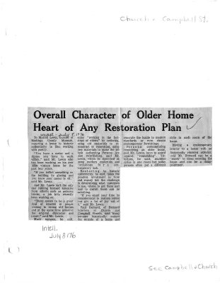 Overall character of older home heart of any restoration plan
