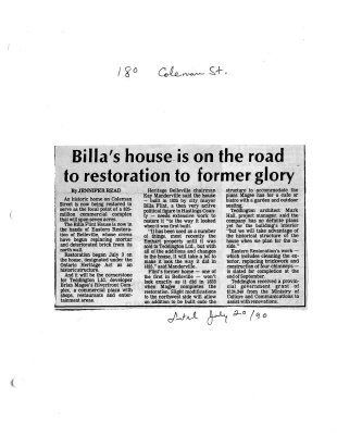 Billa's house is on the road to restoration to former glory