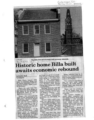 Historic home Billa built awaits economic rebound