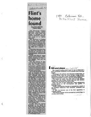 Flint's home found