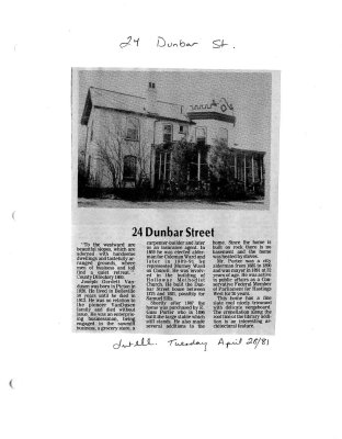 24 Dunbar street