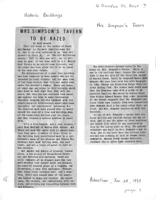 Mrs. Simpson's Tavern to be razed