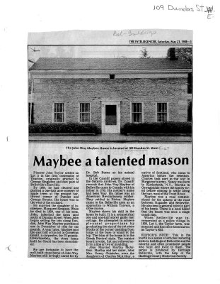 Maybee a talented mason