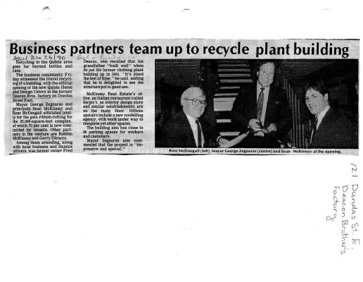 Business partners team up to recycle plant building