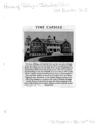Time capsule: House of Refuge