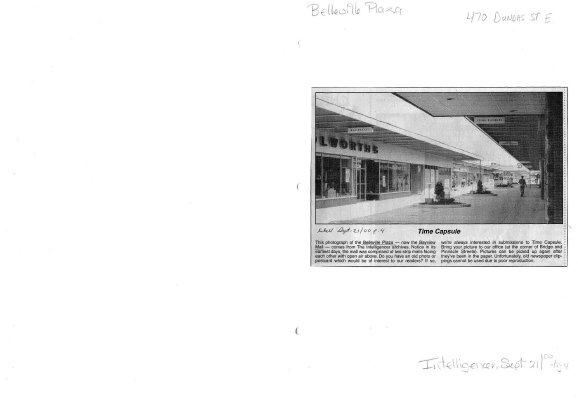 Time capsule: Belleville Plaza