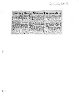 Building design stresses conservation