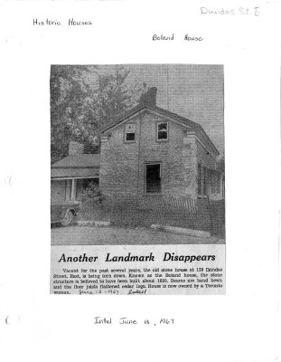 Another landmark disappears: the Boland House