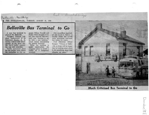 Belleville Bus Terminal to go