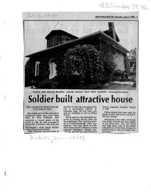 Soldier built attractive house: the Chisholm-Zwick House