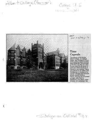 Time capsule: Albert College