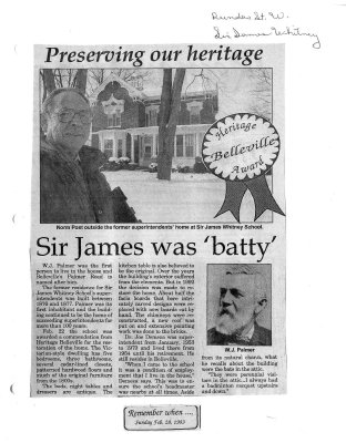 """Preserving our heritage: Sir James was """"batty"""""""