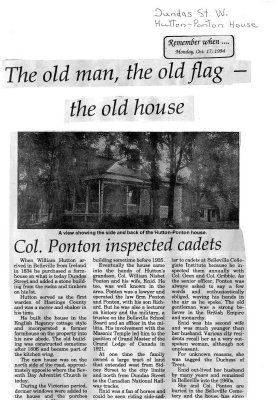 The old man, the old flag - the old house: Col. Ponon inspected cadets