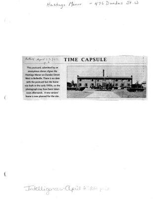 Time capsule: Hastings Manor