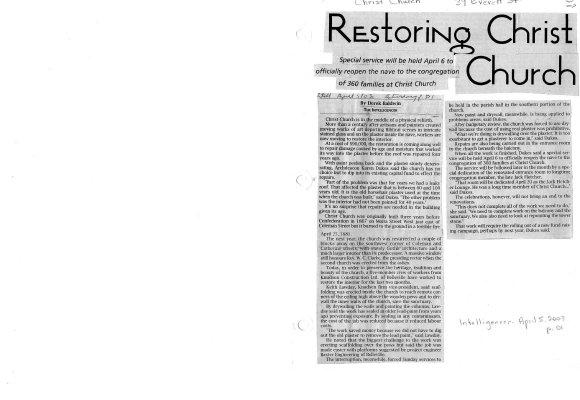 Restoring Christ Church