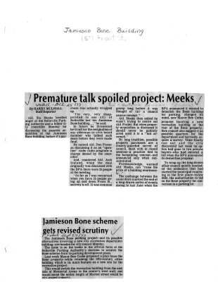 Premature talk spoiled project; Meeks