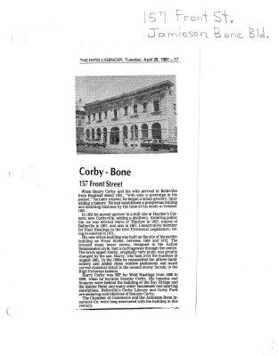 Corby - Bone : 157 Front Street