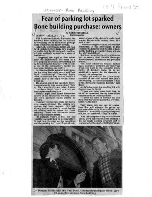 Fear of parking lot sparked Bone building purchase: owners